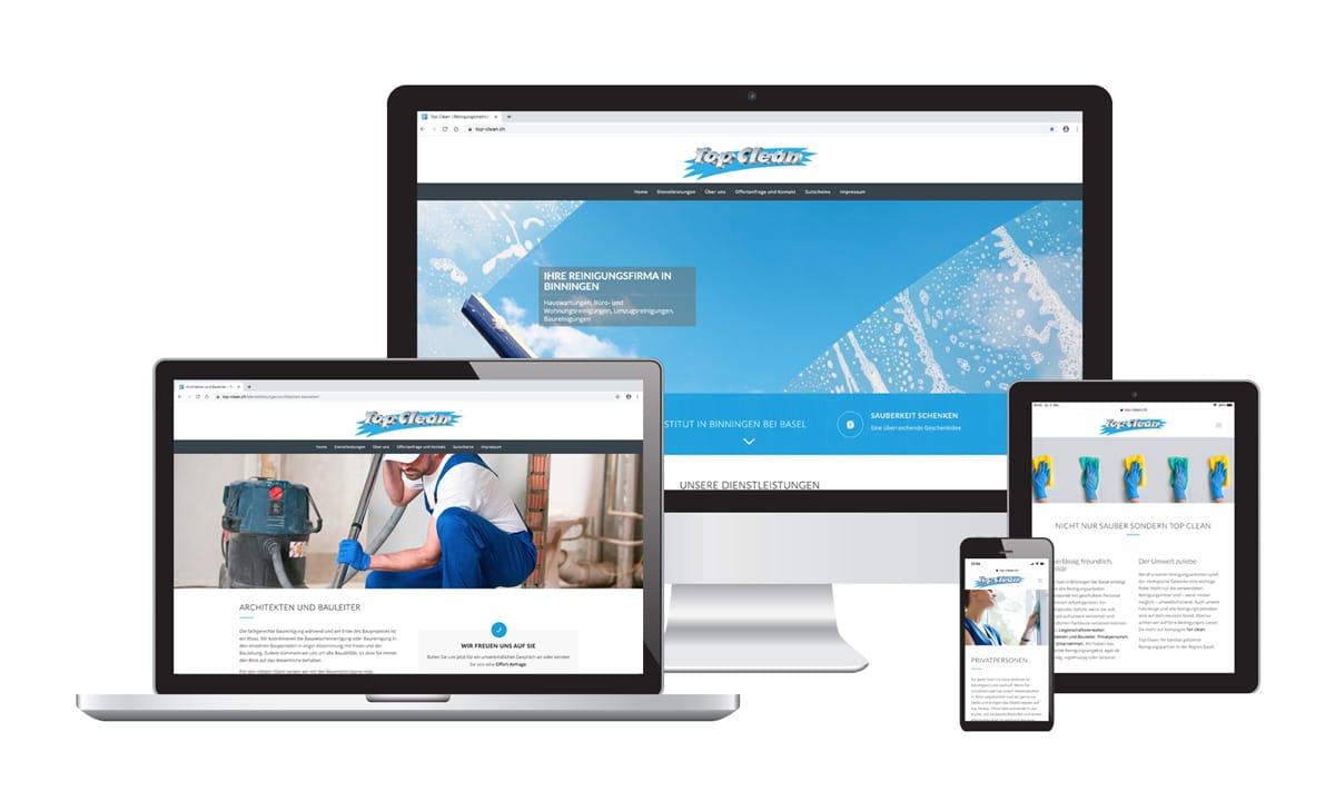 WordPress Webseite & Text für Top Clean Reinigungsinstitut