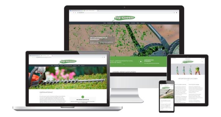 WordPress Webseite & Text für Top Green Reinigungsinstitut