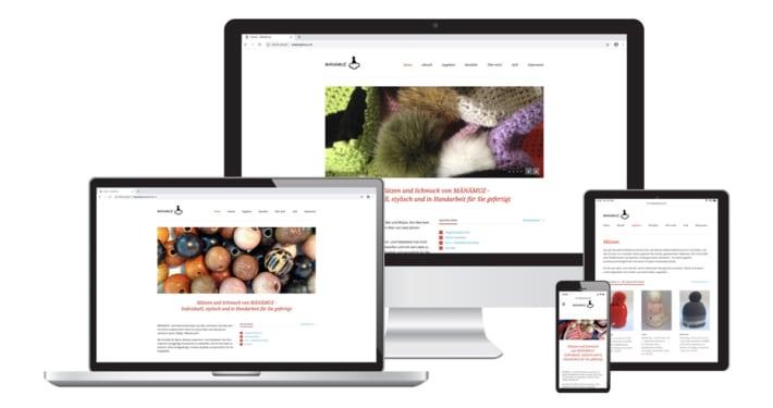 Webseite & Text für Maenaemuz Accessoires