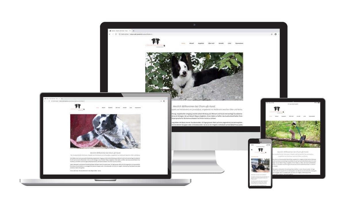 Webseite für Chum ufe Hund Hundeschule