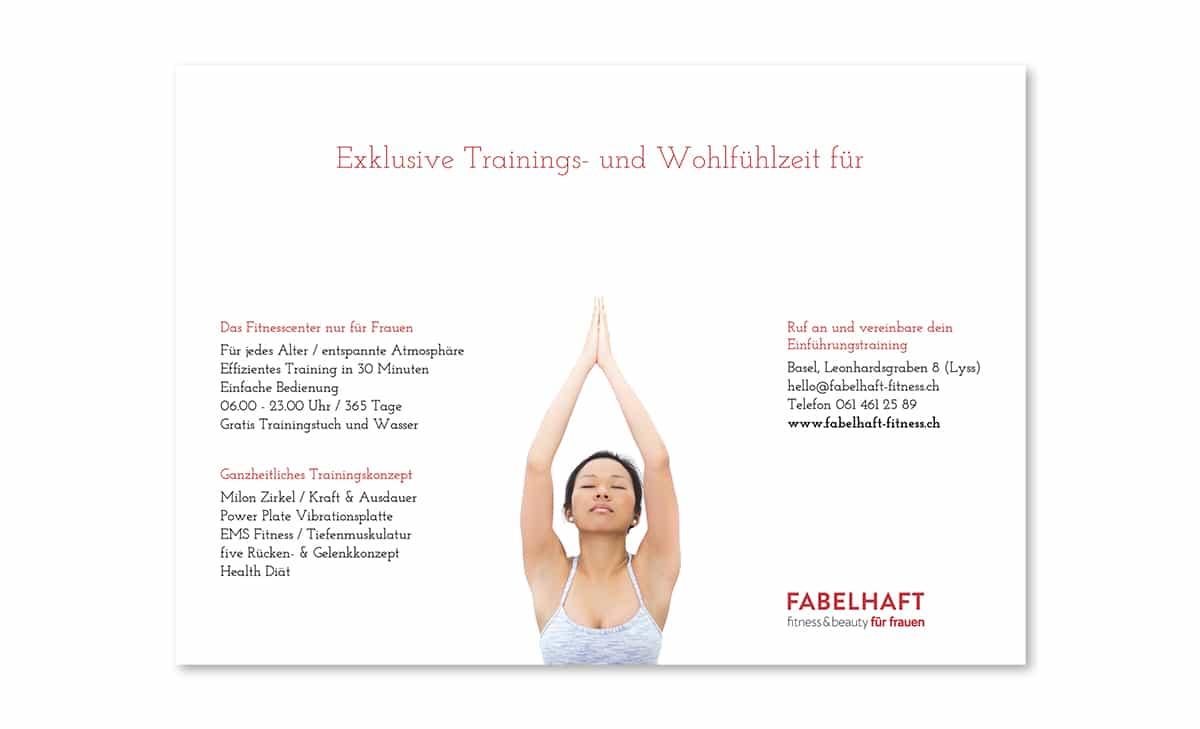 Fabelhaft Fitness Akquisition Voucher back