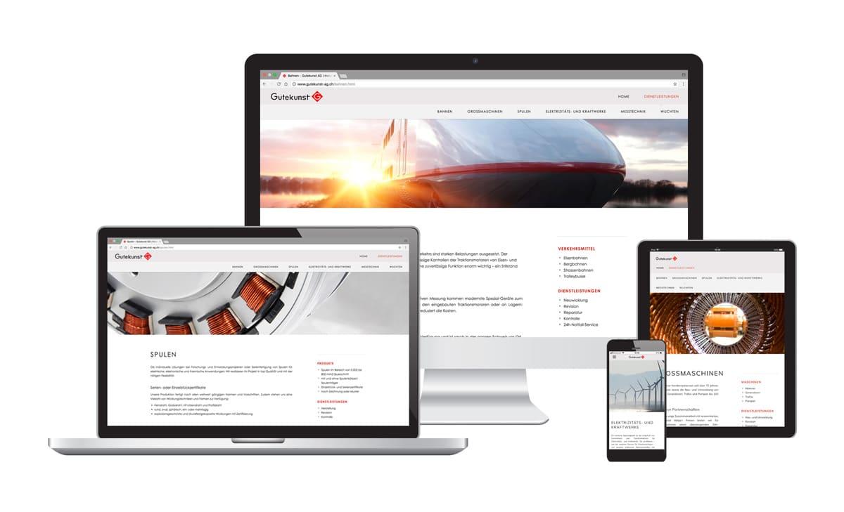 Webseite & Text für Gutekunst AG Elektromotoren