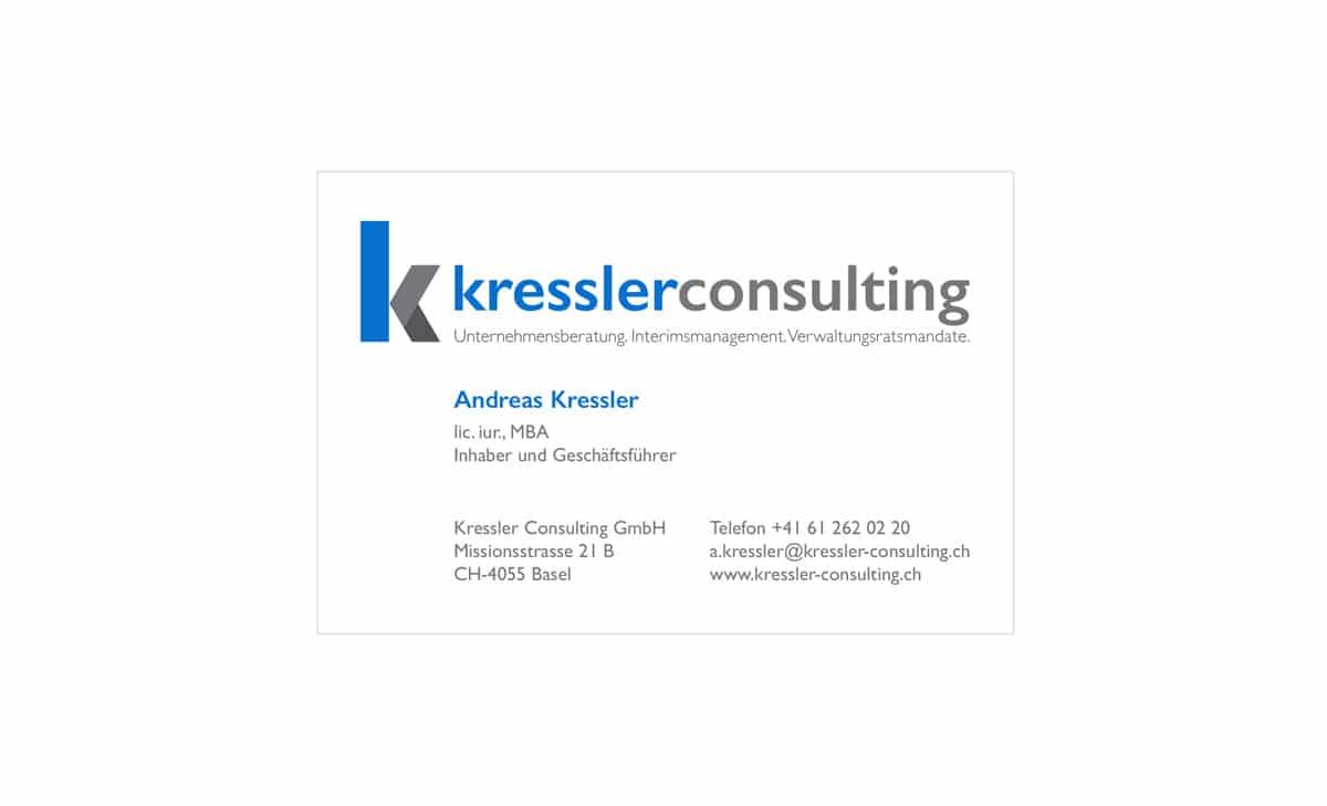 Kressler Consulting Visitenkarte