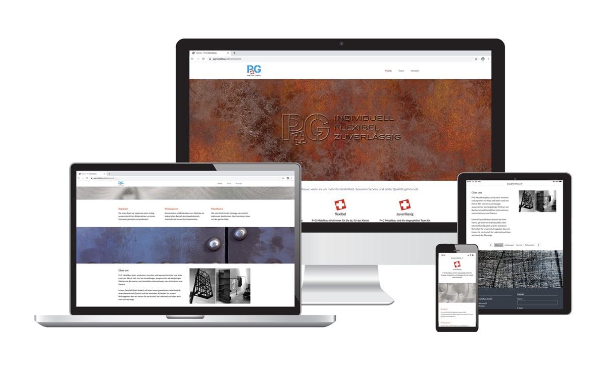 Webseite für P&G Metallbau