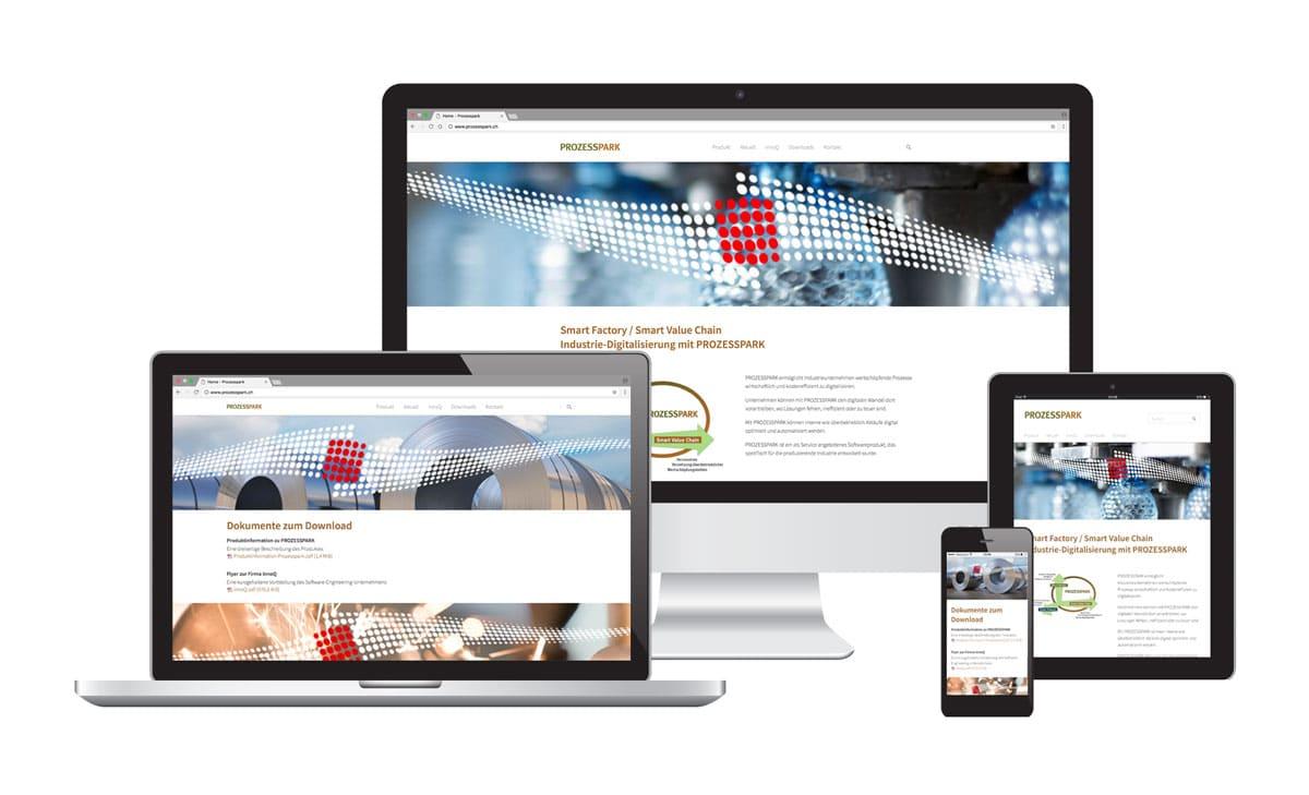 Webseite für Prozesspark
