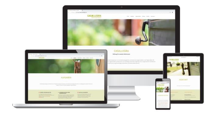 WordPress Webseite & Text für Stiftung Casallegra