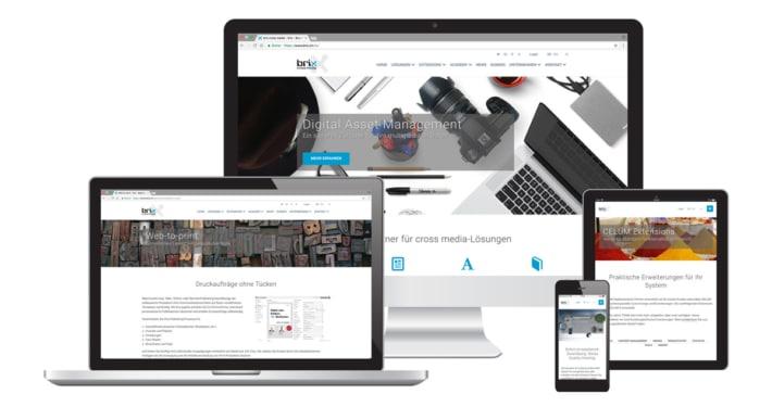 Craft Webseite & Text für brix cross media