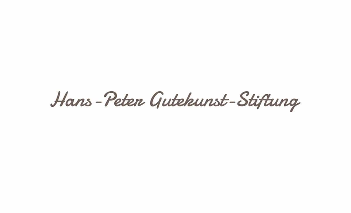Logo Design für HP Gutekunst Stiftung 1
