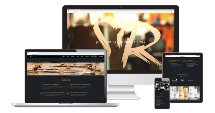 Webseite & Text für Just Capelli Hair Fashion Coiffure