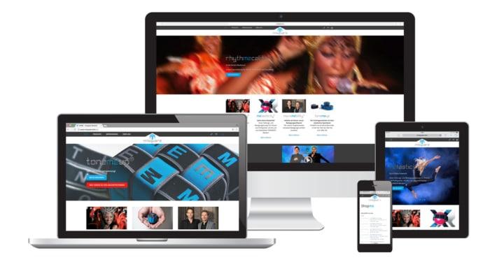 Webseite & Logo Design für nnsquare Tanz- & Rhythmuskonzept