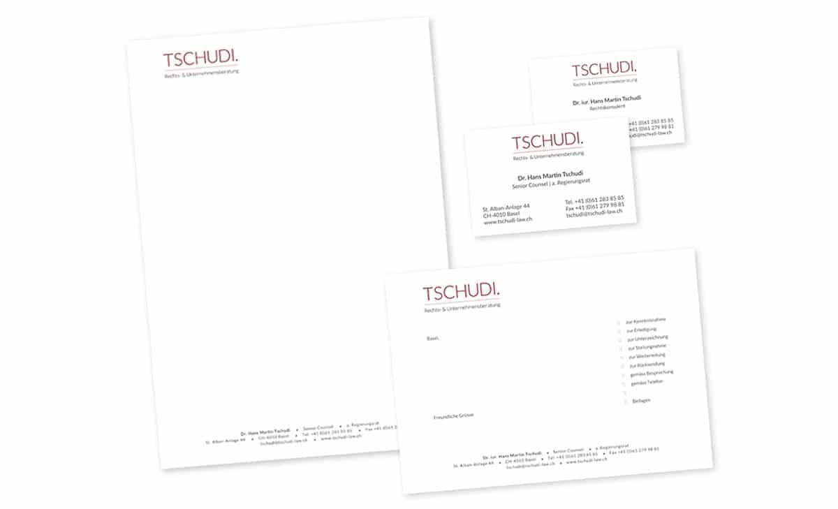 Drucksachen für Tschudi Rechtsberatung